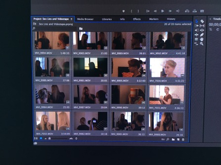 Editing my final scene for my acting class