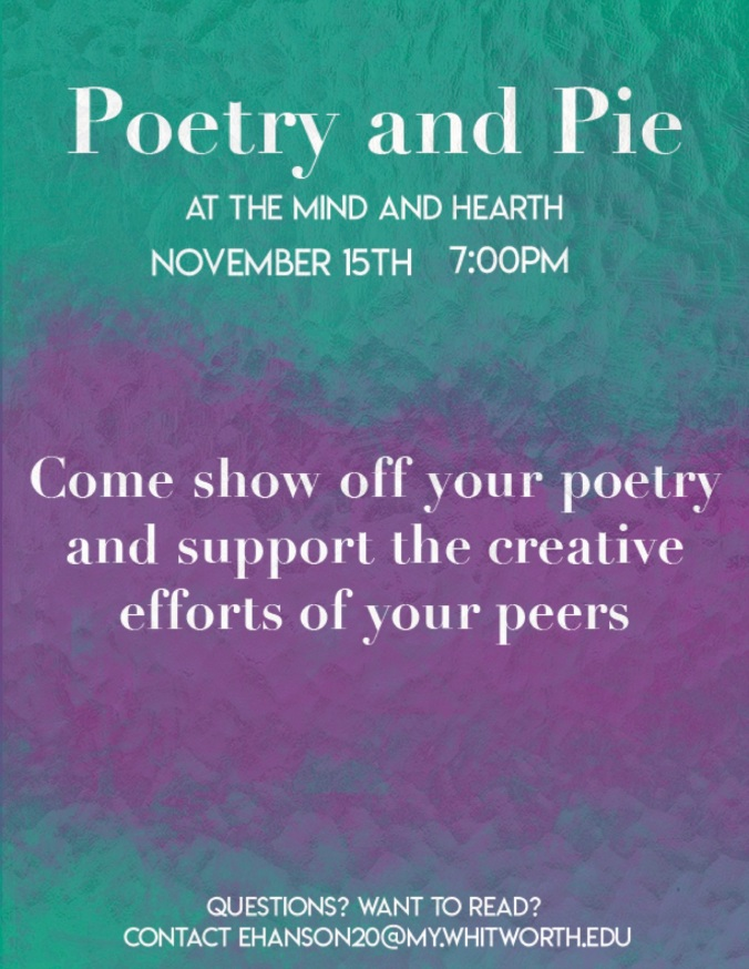 Poetry and Pie Poster
